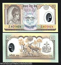 NEPAL 10 RUPEES P-45 2002 POLYMER COMMEMORATIVE UNC DEER MONEY BILL BANK NOTE