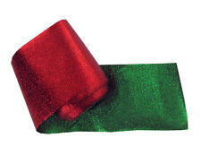 Red Green Foil Solid Color Christmas Holiday Party Decoration Crepe Streamer