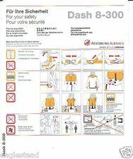 Safety Card - Augsburg Airways - Dash 8 300 (S2186)