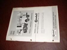Gradall Warner Swasey Service 1961 Manual