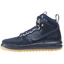 Nike Lunar Air Force 1 DUCKBOOT BLUE GUM BOTTOM 805899-400 sz 9 WINTER BOOTS