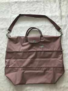 Longchamp Le Pliage Club Expandable Travel Bag with Shoulder - Peach Pink XXL