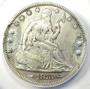 1873-CC Seated Liberty Half Dollar 50C Coin  - ANACS XF40 Details (Damage)