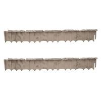 Suncast Quick Edge 35 Inch Single Strip Resin Lawn Edging, Flagstone (2 Pack)