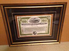 International Mercantile Marine Company Stock Certificate Original Prof Framed