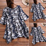 ZANZEA Women Short Sleeve Asymmetrical Summer T-Shirt Tops Blouse Tee Shirt Plus