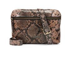VILLAGE ENGLISH Sapiston Genuine Leather Snake Print Crossbody Bag - New