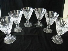 """PAIR WATERFORD """"TRAMORE"""" CLARET WINE 5 1/4""""H,PRICE PER PAIR, EXCELLENT CONDITION"""