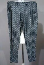 SIZE 10 W32/L28 F&F BLACK & WHITE GEOMETRIC HAREM TAPERED TROUSERS NEW BNWT