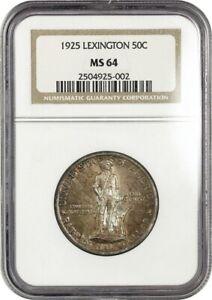 1925 Lexington 50c NGC MS64 - Silver Classic Commemorative
