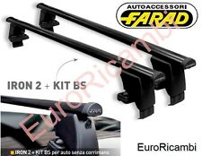 BARRE PORTATUTTO TETTO FARAD IRON130 BS133 PER FIAT 500X DAL 2014 IN POI