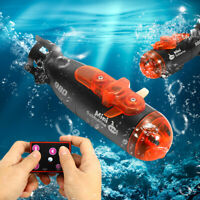 Remote Control Mini RC Submarine Ship Micro Radio Boat LED Light Kids Toy