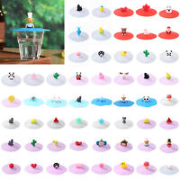Silicone Cartoon Dustproof Heat-resistant Glass Mug Suction Lid Cap Cup Cover