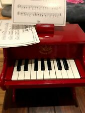 Vilac Klavier Kleinkinder Musikinstrument Mini Piano Instrument Holz rot