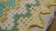 NEW Handmade Crochet Multi-Color Zig-Zag Afghan Throw Blanket  approx 36 x 40