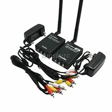 2.4GHz 3W 8CH AV Wireless Transmitter & Receiver Long Range TX+RX with Adapter