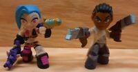Funko League Of Legends Mystery Mini Jinx & Lucian Vinyl Figurine Toy LOT of 2