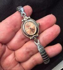 Claremont Ladies Brown Dial Quartz Silver Tone Stretch Bracelet Watch Works