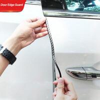 5m/16FT Car Door Edge Guards Clear U Shape Carbon Fiber Seal Protector Accessory