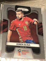 Panini Prizm World Cup 2018 Card Jordi Alba Spain Football Soccer