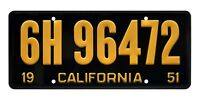 Back to the Future | Biff's Ford | 6H 96472 | Metal Stamped Prop License Plate