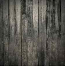 8x8FT Dark Gray Wooden Planks Wall Custom Photo Studio Background Backdrop Vinyl