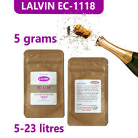 Lalvin EC-1118 'prise de mousse' Champagne yeast for wine and cider, 5 gram pack