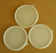 Lot of 3 Vintage Tupperware #227 Sheer Replacement Clear Lids 6 1/2