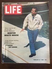 LIFE MAGAZINE FEBRUARY 21, 1969 NIXON WINTER WHITE HOUSE INCIDENT OFF GHANA
