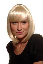 Perruque pour Femme Carré Court Longbob Frange Lisse Blond Platine 7803