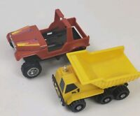 Vintage Kenner 1980s Toy Trucks Lot Of 2 Red & Yellow