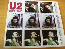 U2 EIGHT 5 7 9  TRIPLO CD MINT--  KTS NO POSTER