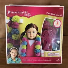 American Girl doll Crafts Kit Pom pom scarves for you and her do it yourself