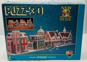 1996 Puzz 3D Victorian Avenue by Wrebbit Contents New Sealed Piece FREE SHIP
