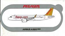 NOUVEAU !!! A320neo Pegasus Airlines STICKER AIRBUS