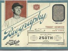 Tommy Henrich Yankees 2012 Prime Cuts GU Biography 47/49