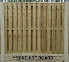 More details for yorkshire board pressure treated & tanalised fence panel 6ft w x 3ft to 6ft h