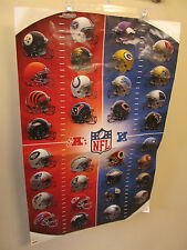 NFL 32 TEAM POSTER - ALL 4 CUPS IN 2014 SERIES - OLDER BEER NFL CUPS