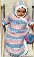 PRETTY WARM BABY SLEEPING BAG EASY FAST KNITTING PATTERN   (922)