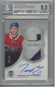 JESPERI KOTKANIEMI 2018-19 THE CUP EMBLEMS OF ENDORSEMENT 2/15 BGS 8.5/AU 10
