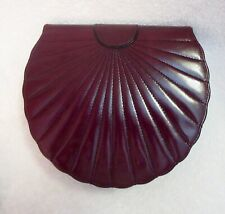 Clive Shilton Shell Shape Leather Bag Princess Diana Designer Hand-Made Superb!