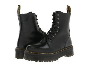 Women's Shoes Dr. Martens JADON Leather 8 Eye Platform Boots 15265001 BLACK