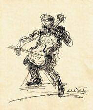 Salvador Dali Dibujo Original Chello