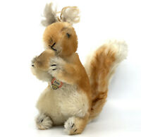 Steiff Possy Red Squirrel w Nut Mohair Plush 22cm 9in ID Chest Tag 1960s Vintage