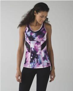 """Lululemon """"Strap It Like It's Hot"""" Tank, size 10 in Purple Bloomin Pixie color"""
