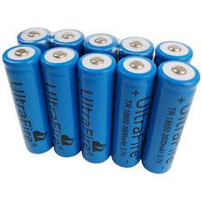10X 3.7V 18650 3800mAh Li-ion Rechargeable Battery For Flashlight Torch Headlamp