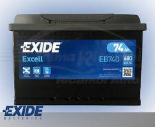 BATTERIA AUTO EXIDE EXCELL EB740 74Ah 680A POLO +DX = BOSCH 0092S40080 VARTA E11