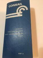 Conrail Manual For Construction & Maintenance Of Track 1986 MW4