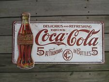 Coca-Cola Premium Tin Sign Vintage-Look Reproduction  Delicious and Refreshing
