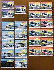 DISNEY TRANSPORTATION CARDS COMPLETE SET OF 25 WALT DISNEY WORLD MONORAIL